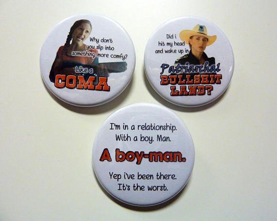 WayHaught Waverly & Nicole Wynonna Earp badges buttons