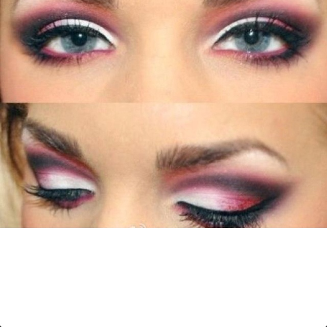 Eye Makeup For Blue Eyes. Perfect For My Pink And White Dress