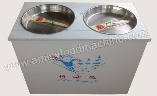 Link: http://amisyfoodmachine.com/product/ice-cream/ice-cream-machine/double-pan-fried-ice-machines.html Email:  info@amisymachine.com Double Pan Fried Ice Machine is designed to mix the ice cream with different flavored products like fruit, porridge to produce ice mud, snow ice, fruit ice and ice porridge. Double pan fried ice machine is equipped with two pans ensuring a large output.