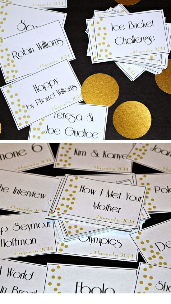 New Years Eve Party Charades | DIY New Years Eve Party Ideas for Teens | Easy Party Ideas for Teen Girls Decorations