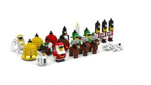 Directions to build your own Lego ornaments