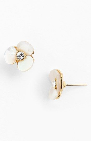kate spade new york 'disco pansy' stud earrings available at #Nordstrom
