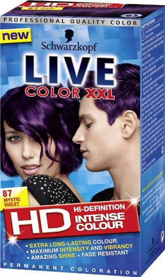 Schwarzkopf LIVE Color XXL 87 Mystic Violet: none: Amazon.co.uk: Beauty that's what I want....god I love that color !!!
