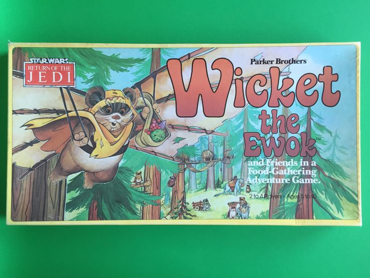 1983 Wicket the Ewok and Friends in a Food-Gathering Adventure Game- Parker Brothers- Star Wars- Return of the Jedi by IgnatiusGreyVintage on Etsy https://www.etsy.com/listing/386105072/1983-wicket-the-ewok-and-friends-in-a