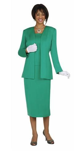 GMI-Group Womens Group Usher Suit G13270- Three-piece fully lined skirt suit made out of 100% polyester with self fabric camisole. These skirt suit uniforms are perfect for church or any major event! Plus Size available as Style G13270W Sizes 18W-38W