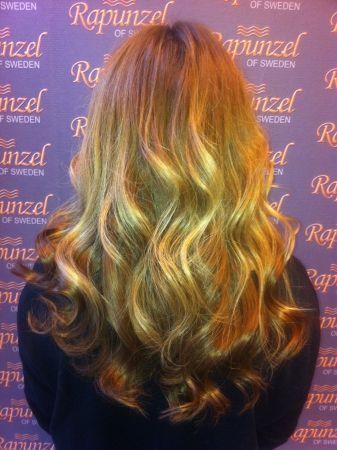 Rapunzel of Sweden Hair Extensions #27 & #24 Rapunzel Nail Hair