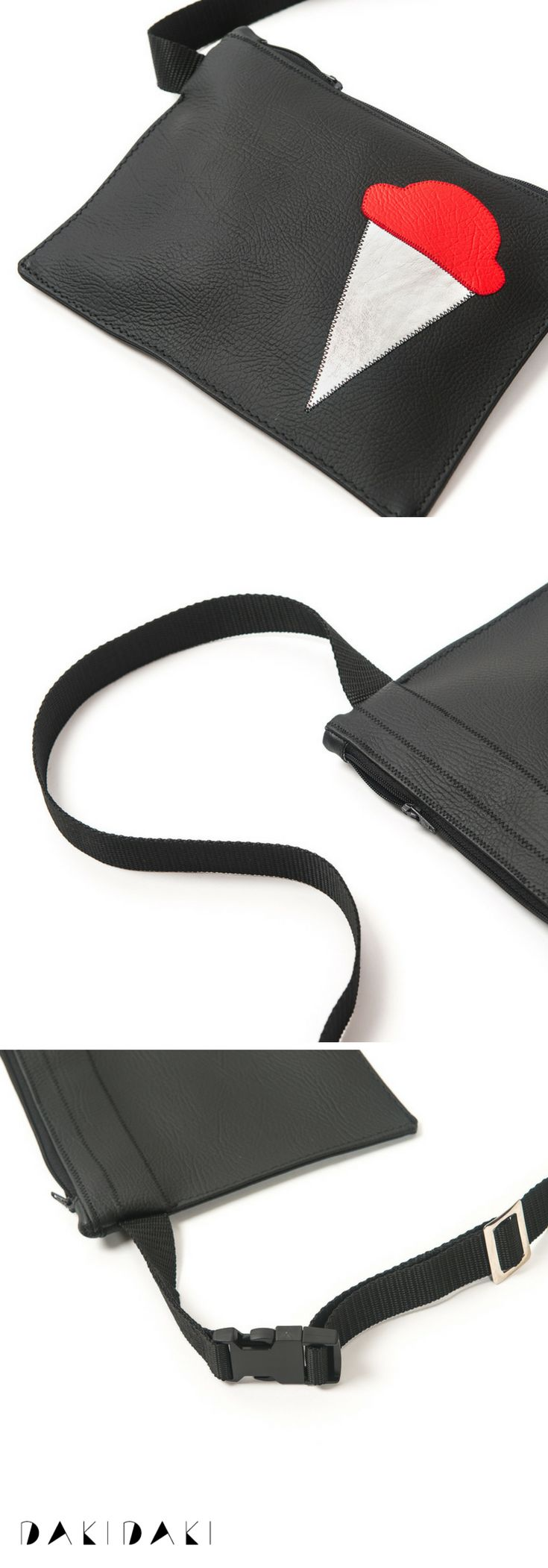 Black funky bum bag for your daily esentials #bumbag #fannypack #waistbag  €55