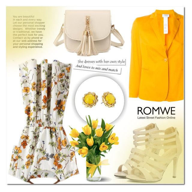 """ROMWE 2"" by mini-kitty ❤ liked on Polyvore featuring Akris, Kate Spade and romwe"