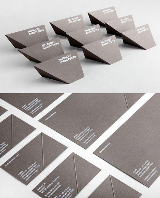 20 cartões de visitas para arquitetos