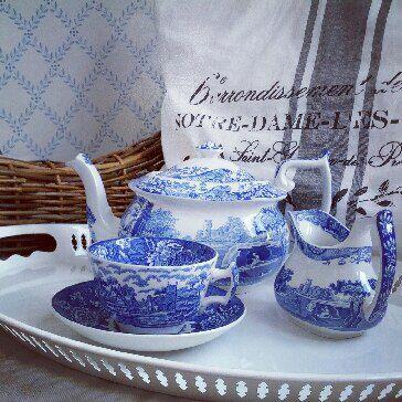 Spode Blue Italian Tea time