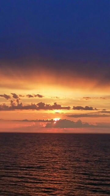 Solnedgång mellan Norge och Danmark 2014