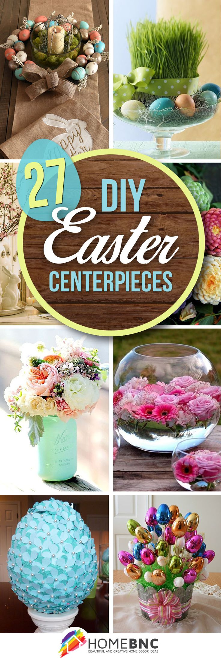 27 Surprisingly Chic DIY Easter Centerpieces You Must See 0 BY HOMEBNC-From wooden baskets to woven textiles, there's no shortage of ways to welcome spring into your home. Family and guests alike will no doubt be charmed by these 27 DIY Easter centerpiece decorations, making this Easter an affair to remember.