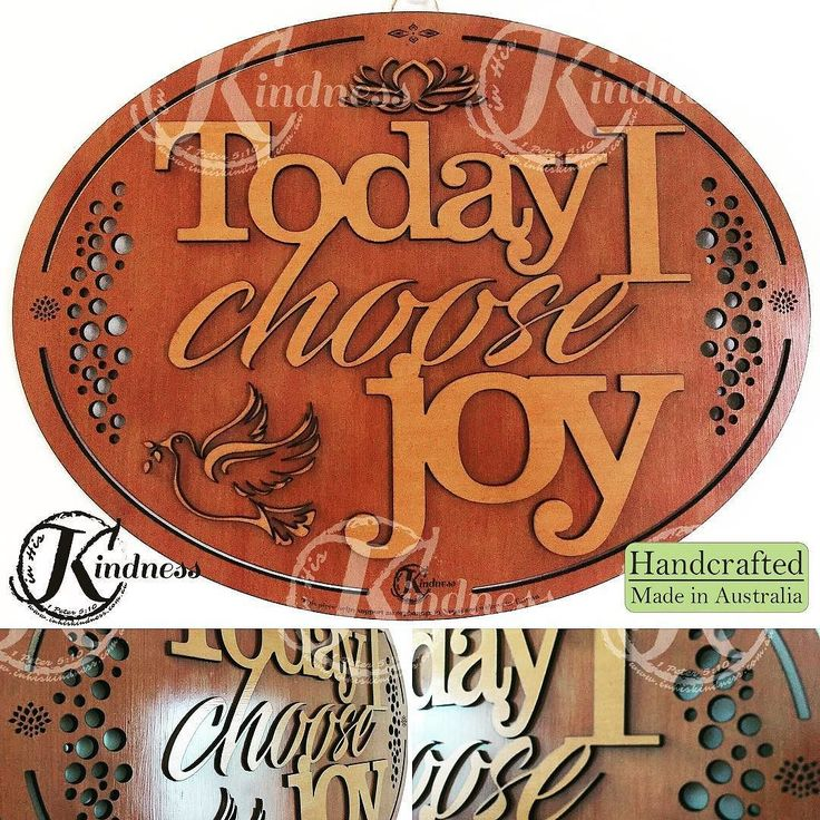 "No matter what happens today I pray and hope this is your mantra and song of your heart: ""Today I choose Joy!"" #inhiskindness #inspirational #quotes #choosejoy #cantstopme #today #positive #dontworrybehappy #sunnysideup #fruitofthespirit #lasercut #laserengraving #woodworking #creativity #art #handcrafted #homedecor #wallart #wallhanging #madeinaustralia"