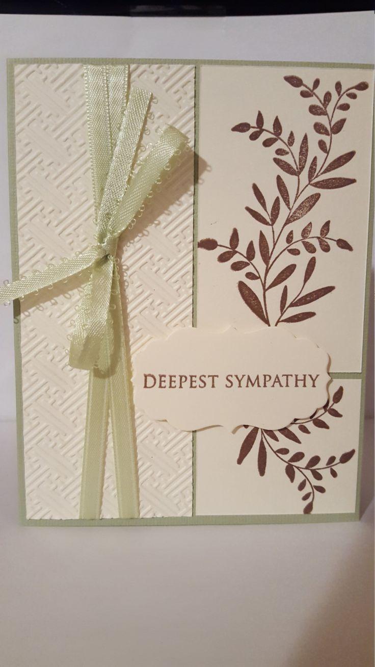 Deepest Sympathy Handmade Card by SimoneSaysCardShop on Etsy