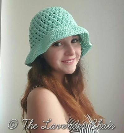Crossed Double Crochet Sun Hat - Free Crochet Pattern - The Lavender Chair