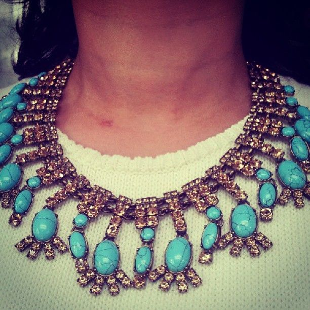SAMANTHA WILLS - 3000 BC Necklace; Sparkle Jewellery Statement Turquoise Luxe