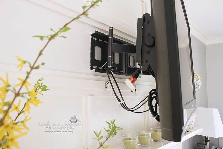 Cameras and Chaos: how to hide tv electrical wires - the tv wall mount is done...