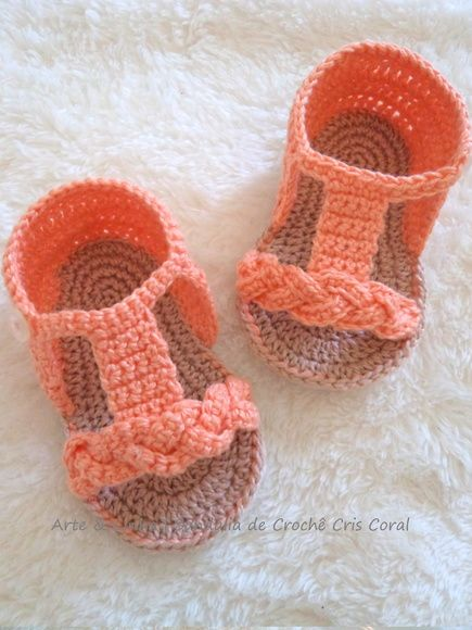 Sandália de Crochê Cris Coral