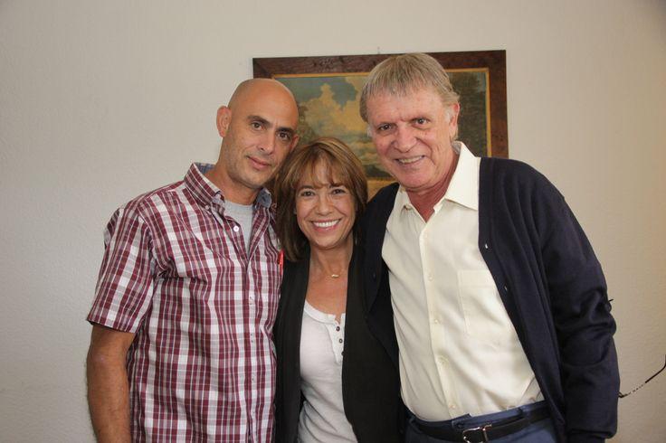 De visita con el primer actor Juan Pelaez nuestra productora ejecutiva Genoveva Martínez.