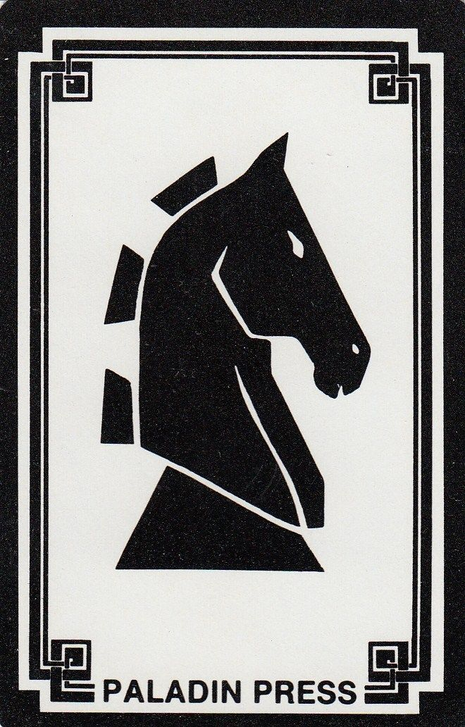 Vintage Swap/Playing Card - 1 SINGLE- PALADIN PRESS HORSE HEAD in Collectables, Paper, Postcards, Playing Cards | eBay
