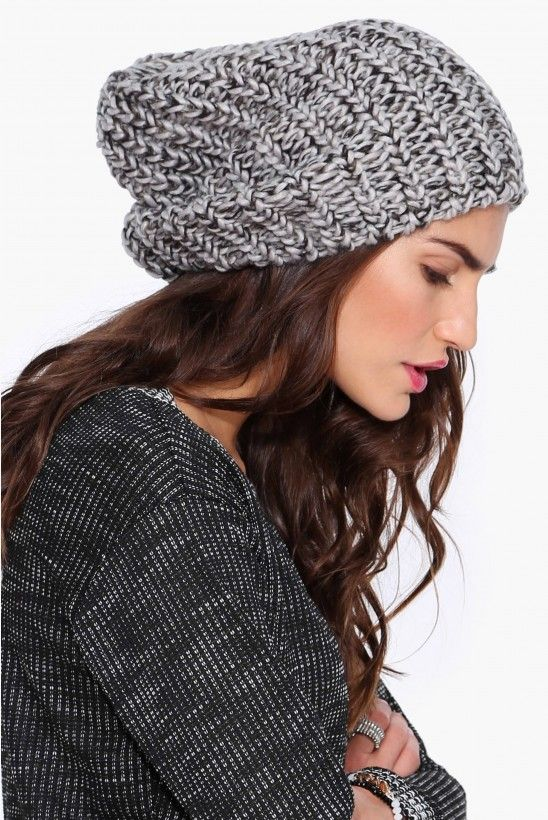 Knit Beanie in Grey   Necessary Clothing