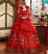 encaje Bordoneado rhinestone de lujo rojo vestido medieval princesa sissi medieval vestido renacentista reina traje de la bola Belle victoriana(China (Mainland))