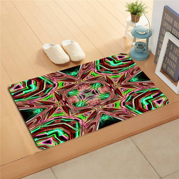 K&!165 Custom Colorful classic pattern #9 Doormat Home Decor Door mat Floor Mat Bath Mats foot pad J-725F165eg