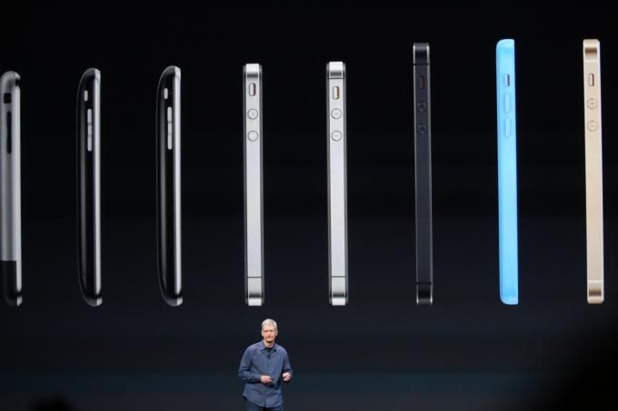 The different colors of the iPhone 6