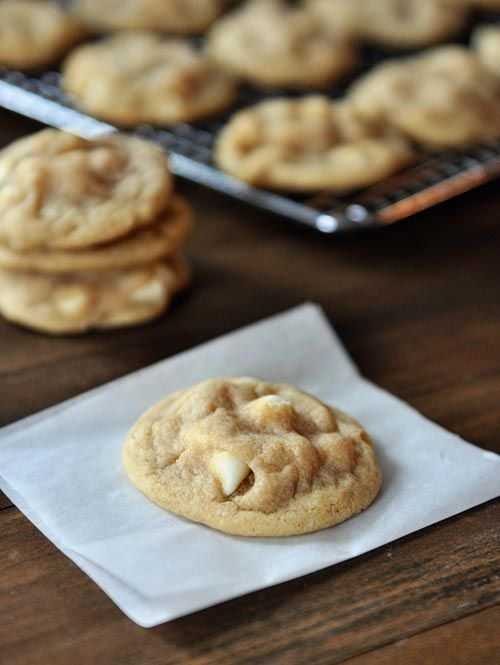Perfect White Chocolate Macadamia Nut Cookies ~ Says: a delicious, buttery, chewy, soft cookie dough filled with the crunch of macadamia nuts and the creaminess of white chocolate... they are absolute perfection