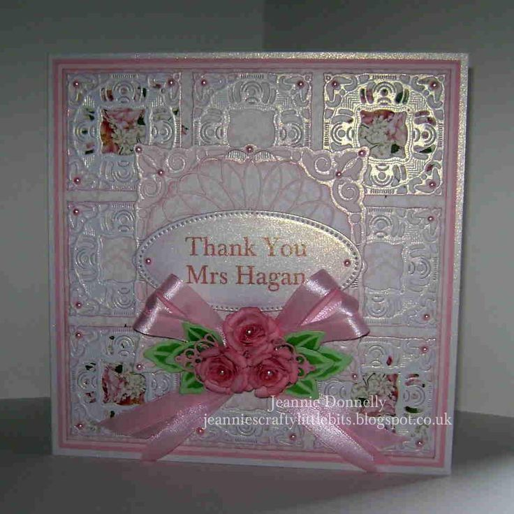 Thank You Card using Spellbinders Adorning Squares