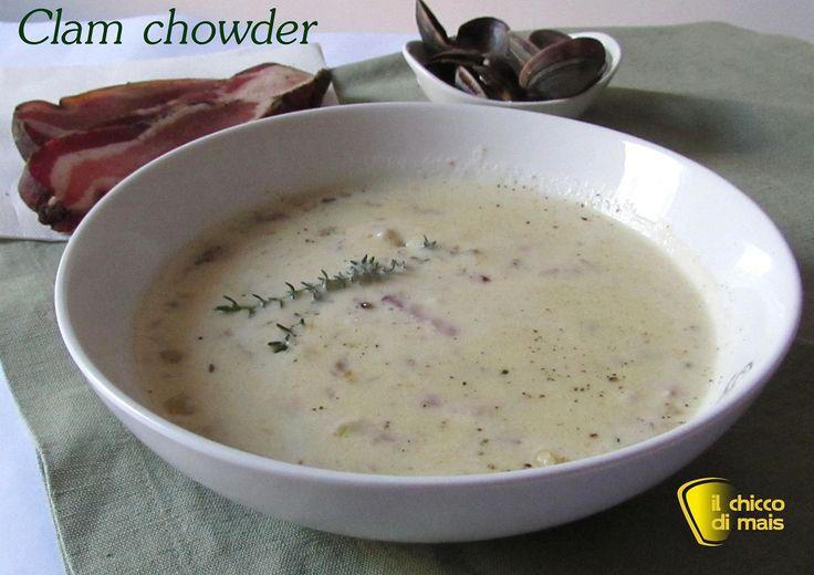 Clam chowder – Zuppa di vongole ricetta americana il chicco di mais