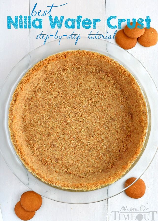 A step by step tutorial to your new favorite pie crust recipe! This is the BEST Nilla Wafer Pie Crust ever and so easy too! | Best Nilla Wafer Pie Crust on MyRecipeMagic.com