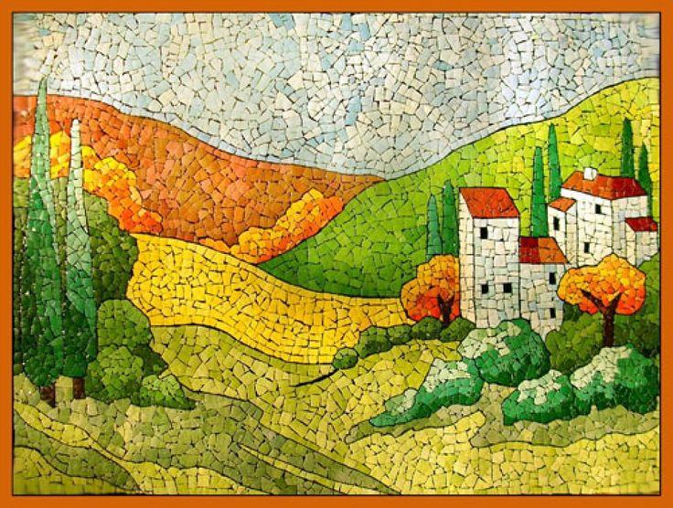 17 mejores ideas sobre mosaico de c scara de huevo en for Mosaic painting meaning