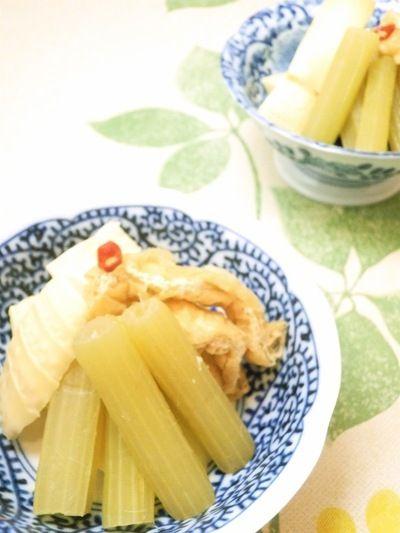我が家の定番 蕗と筍と油揚げの煮物 by やっこさん   レシピブログ ...