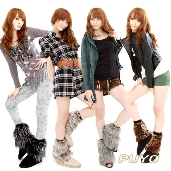 cool Style Ladies Free of charge Imitation Furs Flexible Dark, Grey, Whitened, Leopard Fluffies Reduce Lower-leg Ankle joint Warmers Ideal for Night clubs, Halloween night 3426