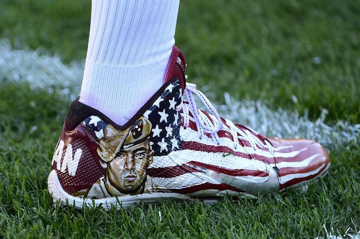 Cowboys vs. Steelers  - 35-30, Cowboys  -  November 13, 2016:     Cowboys Steelers Football  -   Pittsburgh Steelers wide receiver Antonio Brown warms up wearing shoes honoring NFL player and veteran Pat Tillman during warm ups before an NFL football game against the Dallas Cowboys in Pittsburgh, Sunday, Nov. 13, 2016. (AP Photo/Fred Vuich)