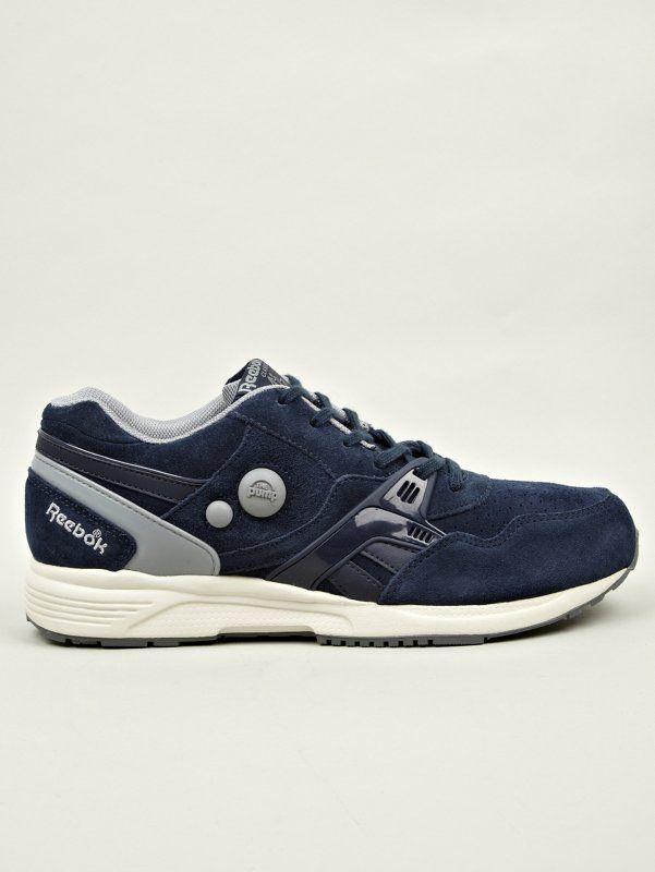 Reebok Men's Navy Pump Running Dual Sneakers   oki-ni