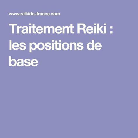 Traitement Reiki : les positions de base