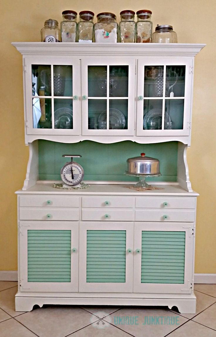 A Once Boring Vintage Kitchen Hutch Class It Up With D Lawless