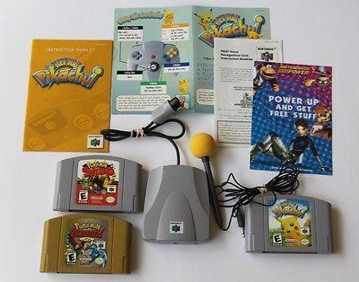 Hey You Pikachu Game Microphone VRU - Pokemon Snap - Pokemon Stadium 2 Super Lot