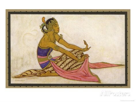 Javanese Dancer in a Seated Pose Giclee Print by Tyra Kleen at AllPosters.com