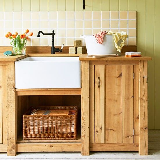 Country kitchen sink | Country utility room design ideas | Decorating | housetohome.co.uk