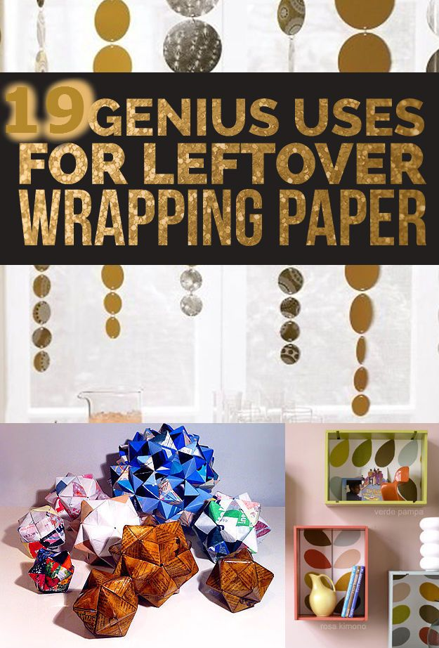 19 DIY Leftover Wrapping Paper Ideas | http://iluvdiyideaz.com/19-diy-leftover-wrapping-paper-ideas/