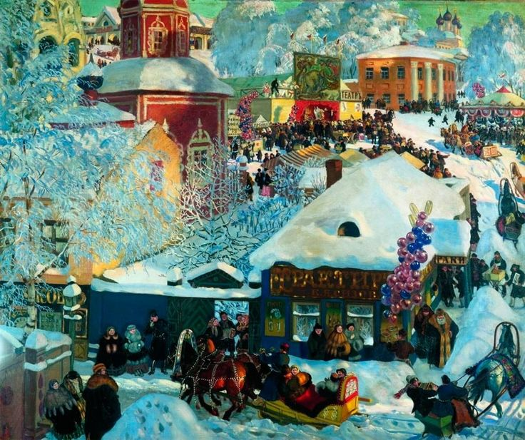 работы Бориса Кустодиева – 12