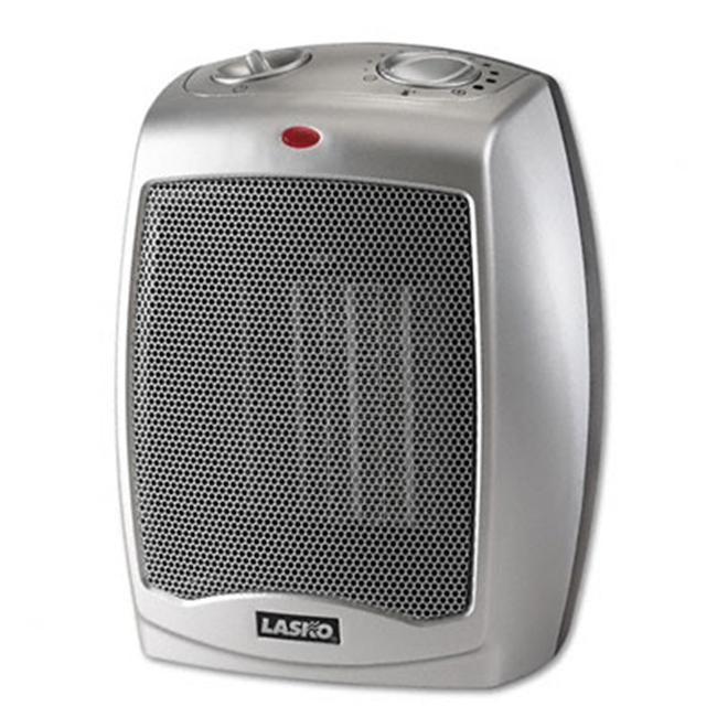 Lasko 754200 Ceramic 1500w Heater W Adjustable Thermostat 7w X 6d X 9 1 5h Gray Heater Lasko