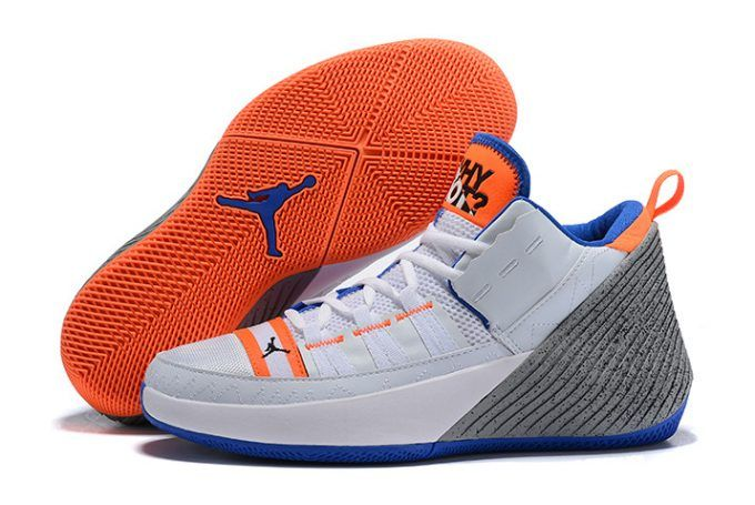 superior quality f5d65 bae42 Used Basketball Hoop For Sale. New Release Jordan Why Not Zer0.1 Chaos White  Orange Blue Grey-3