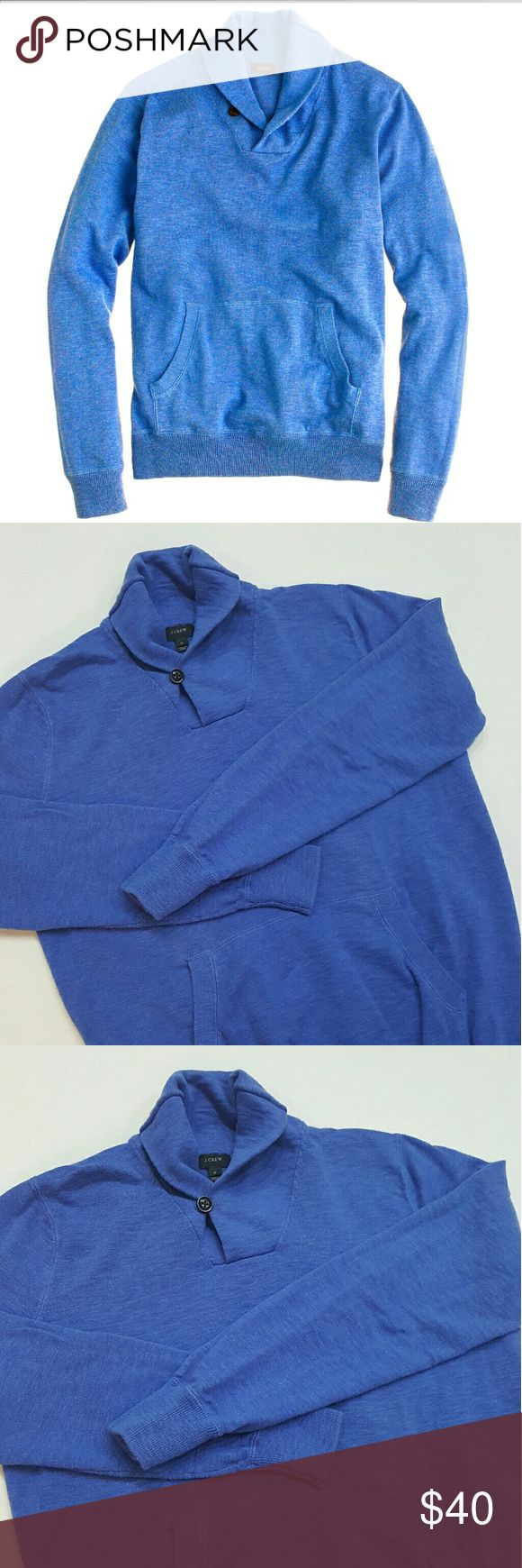 MENS- J. Crew Shawl-Collar sweater J. Crew men's shawl collar blue sweater with a  front pocket. In perfect condition. J. Crew Sweaters