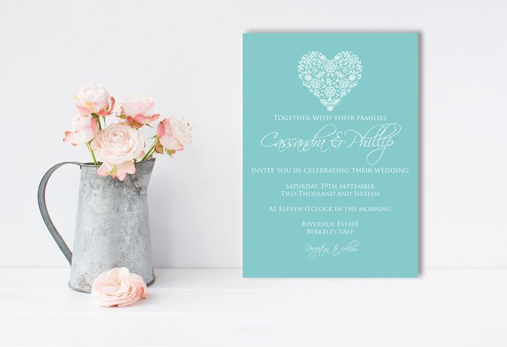 A personal favourite from my Etsy shop https://www.etsy.com/au/listing/259407193/laced-heart-invitation-romantic