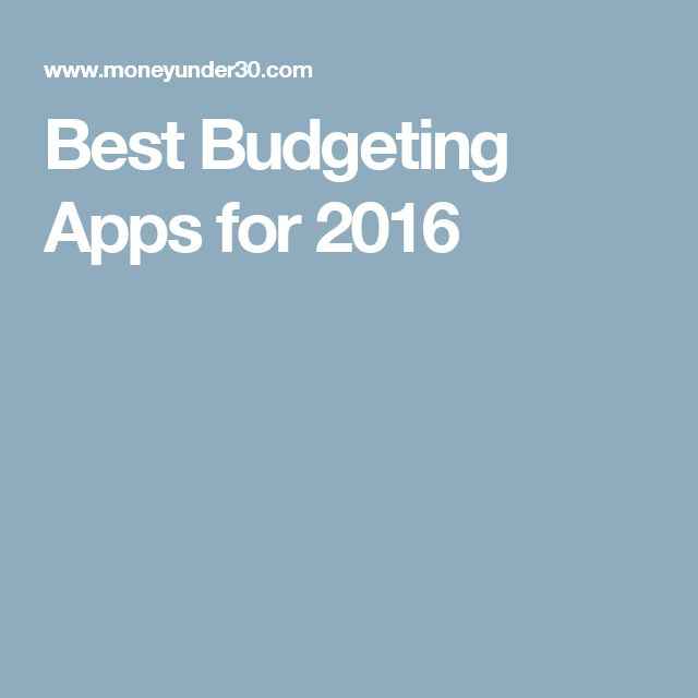 Best Budgeting Apps for 2016