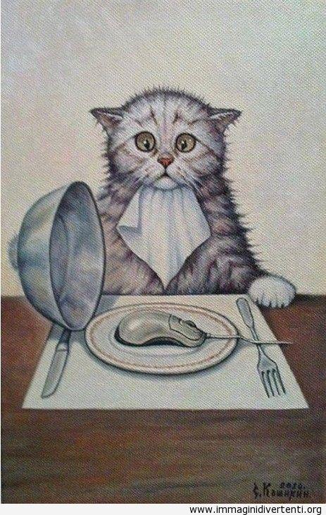 Divertente fumetto con un gatto immagini-divertenti.org
